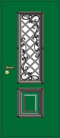 двери входные с окошком показать