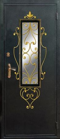 стальне двери с окном