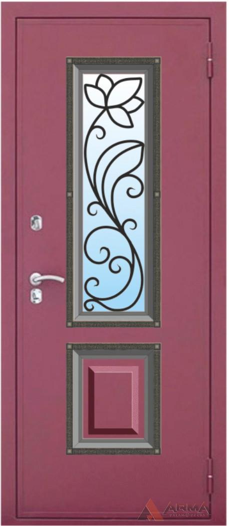 металлические двери клинские с кованной отделкой