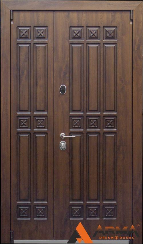 металлическая двустворчатая дверь ширина 1300