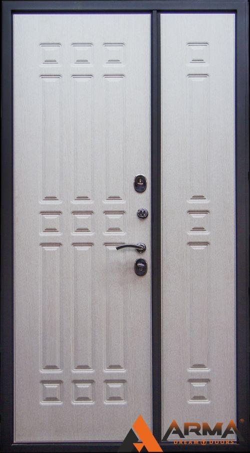 дверь металлическая двустворчатая эконом