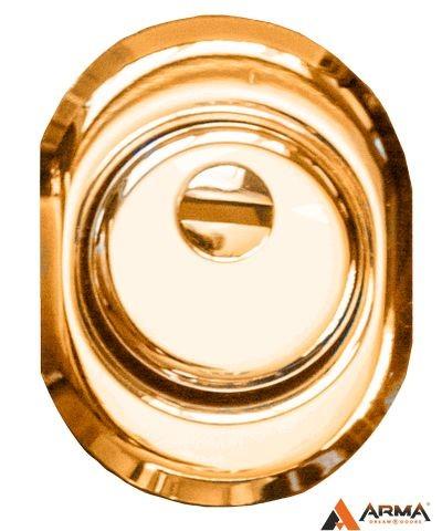Броненакладка врезная золото