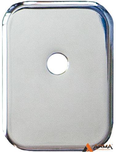 Декор Квадратная Armadillo (Армадилло) накладка на цилиндр со штоком BK-DEC SQ (ATC Protector 1) CP-8 Хром