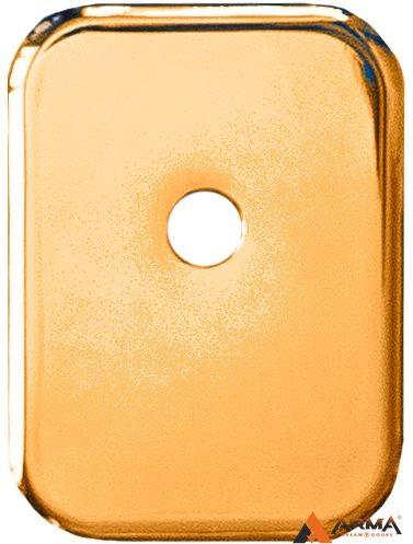 Декор Квадратная Armadillo (Армадилло) накладка на цилиндр со штоком BK-DEC SQ (ATC Protector 1) GP-2 Золото