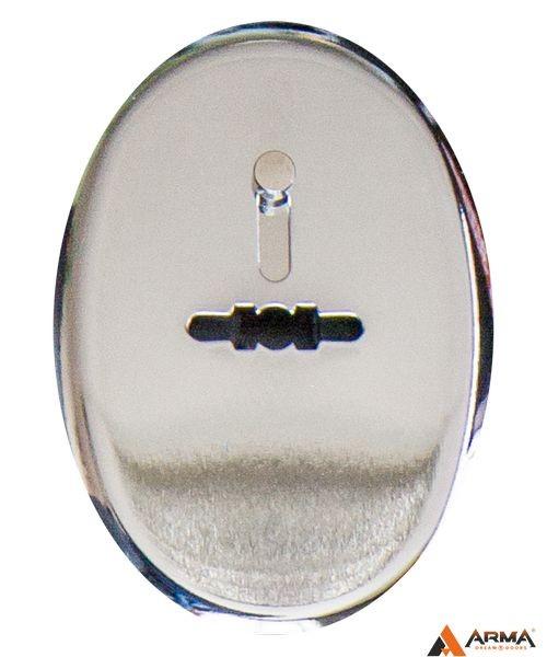 Накладка Апекс DP-S-11-CR-shutter (овальная сув. шторка) хром