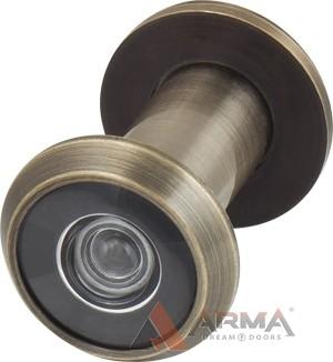 Глазок дверной Armadillo (Армадилло) пластиковая оптика DV1 16 бронза