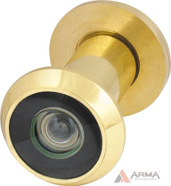Глазок дверной Armadillo (Армадилло) пластиковая оптика DV1 GP золото