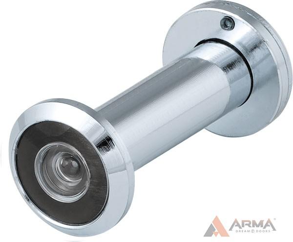 Глазок дверной Fuaro (Фуаро) (оптика пластик, угол обзора 200) DVZ3 CP Хром