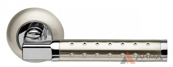 Ручка раздельная Armadillo (Армадилло) Eridan LD37-1SN/CP-3 Матовый никель-хром TECH (кв. 8х140)