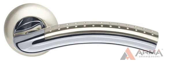 Ручка раздельная Armadillo (Армадилло) Libra LD26-1SN/CP-3 Матовый никель-хром