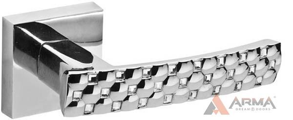 Ручка раздельная Fuaro (Фуаро) CRYSTAL STAR DM CP-8 Хром