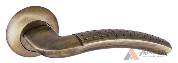 Ручка раздельная Punto (Пунто) LOGICA TL ABG-6 Зеленая бронза 105мм