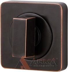 Ручка поворотная Armadillo (Армадилло) WC-BOLT BK6 SQ-21ABL-18 Темная медь