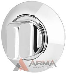 Ручка поворотная Armadillo (Армадилло) WC-BOLT BKW6-1CP-8 Хром