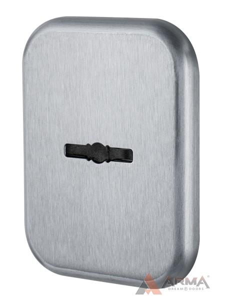 Декор Квадратная Armadillo (Армадилло) накл. на сув. замок со шторкой PS-DEC SQ CT (ATC Protector 1) SC-14 Матовый хром