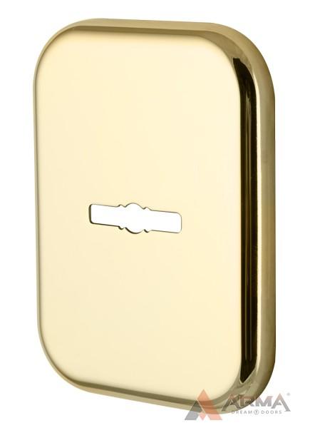 Декор Квадратная Armadillo (Армадилло) накладка на сувальдный замок PS-DEC SQ (ATC Protector 1) GP-2 Золото