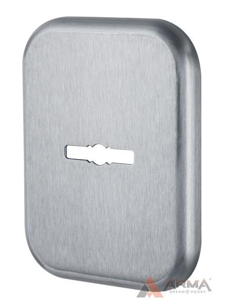 Декор Квадратная Armadillo (Армадилло) накладка на сувальдный замок PS-DEC SQ (ATC Protector 1) SC-14 Матовый хром