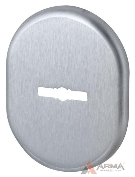 Декор накладка Armadillo (Армадилло) на сувальдный замок PS-DEC (ATC Protector 1) SC-14 Матовый хром