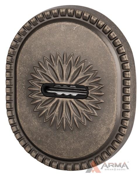 Декор накладка Armadillo (Армадилло) на сувальдный замок PS-DEC CL (ATC Protector 1) AS-9 Античное серебро