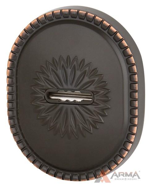Декор накладка Armadillo (Армадилло) на сувальдный замок PS-DEC CL (ATC Protector 1) ABL-18 Темная медь