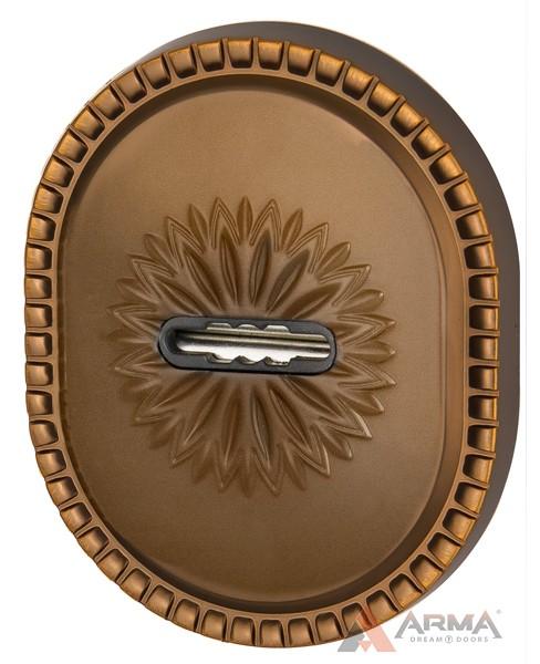 Декор накладка Armadillo (Армадилло) на сувальдный замок PS-DEC CL (ATC Protector 1) BB-17 Коричневая бронза