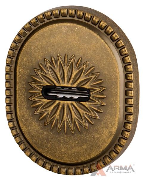 Декор накладка Armadillo (Армадилло) на сувальдный замок PS-DEC CL (ATC Protector 1) OB-13 Античная бронза