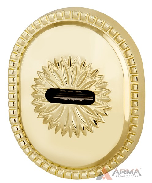 Декор накладка Armadillo (Армадилло) на сувальдный замок PS-DEC CL (ATC Protector 1) GP Золото