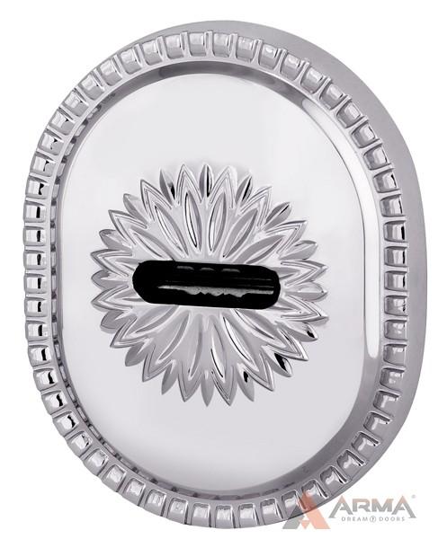 Декор накладка Armadillo (Армадилло) на сувальдный замок PS-DEC CL (ATC Protector 1) СР Хром