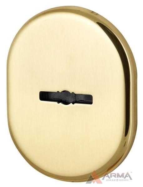 Декор накладка Armadillo (Армадилло) на сувальдный замок со шторкой PS-DEC CT (ATC Protector 1) GP-2 Золото