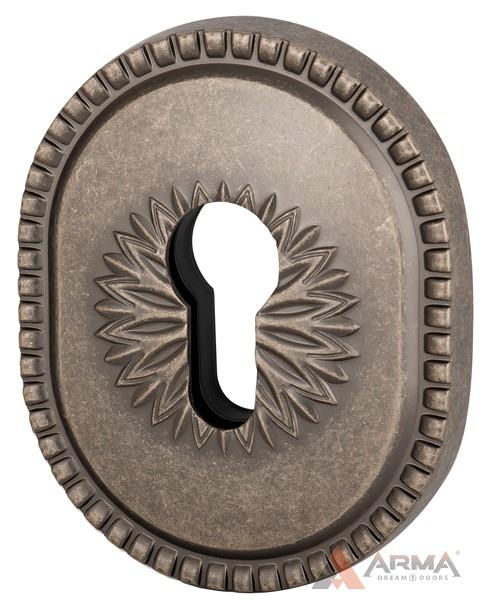 Декор накладка Armadillo (Армадилло) на цилиндр ET-DEC CL (ATC Protector 1) AS-9 Античное серебро