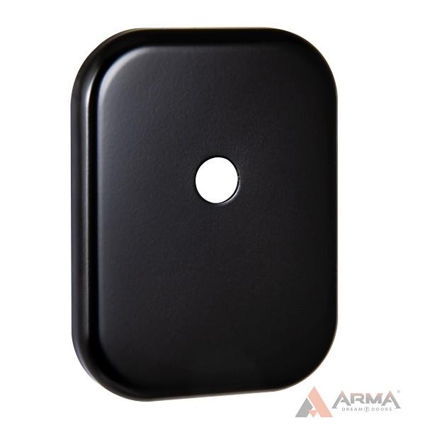 Декор накладка Fuaro (Фуаро) под шток ESC 486-O SQ XL BL-24 (черный)