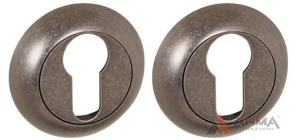 Накладка под Punto (Пунто) цилиндр ET ZR OS-9 Античное серебро