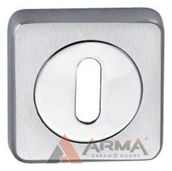 Накладки Oberon MBC (МБС) Normal key, Матовый хром-хром