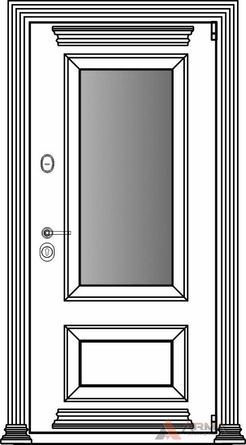СБ-3 окно + карнизы + наличники империал